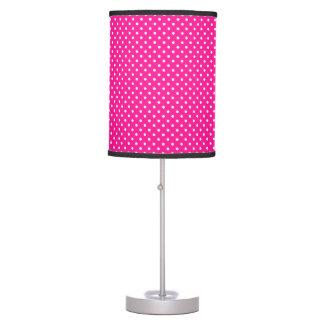 Mejor color rosado fluorescente coordinado lámpara de mesa