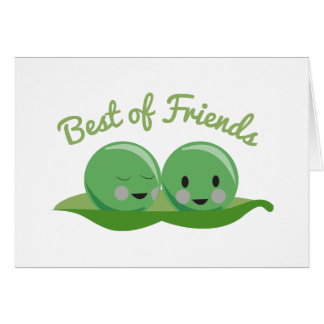 Mejor de amigos tarjetas
