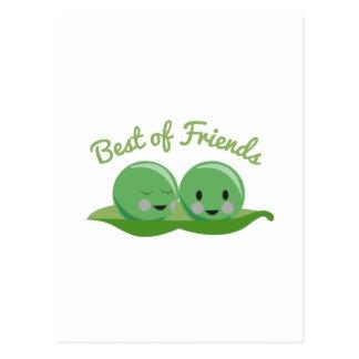 Mejor de amigos tarjeta postal