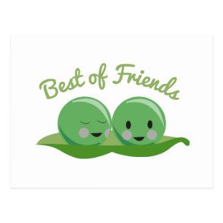 Mejor de amigos tarjetas postales