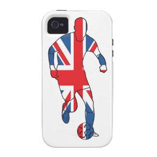 Mejor de Británicos, fútbol Case-Mate iPhone 4 Fundas