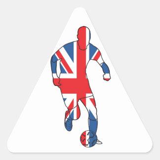 Mejor de Británicos, fútbol Calcomanías De Triangulos Personalizadas