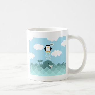 Mejor de la ballena y del pingüino de amigos taza clásica