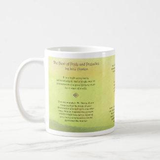 Mejor de las citas de Jane Austen del orgullo y de Taza De Café