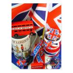 Mejor de recuerdos británicos tarjeta postal