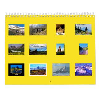 Mejor de Travelicious 2016 de Colorado Calendarios