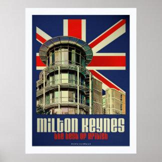Mejor del art déco del poster británico