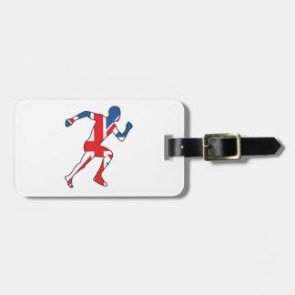 Mejor del atleta británico del deporte etiquetas para maletas