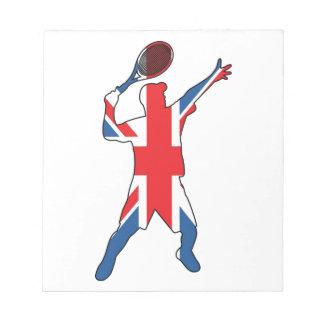Mejor del tenis británico libreta para notas