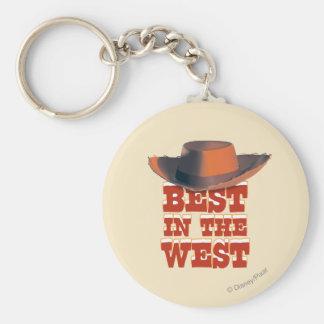 Mejor en el oeste llavero redondo tipo pin