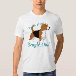 Mejor en el papá del beagle de la demostración camisas