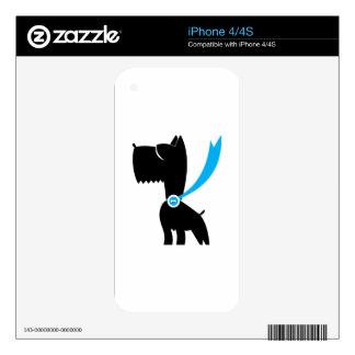 Mejor en perro del escocés de la demostración skins para eliPhone 4