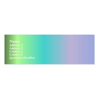 Mejor en tarjeta del perfil de la demostración tarjetas de visita mini