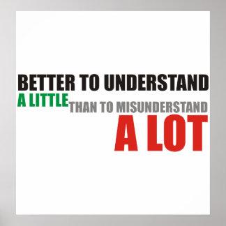 Mejor entienda poco que entienden mal mucho póster