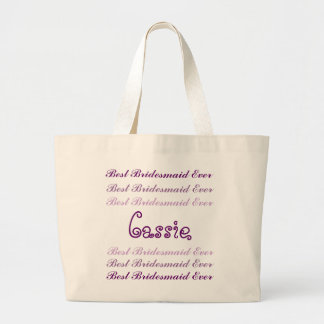 Mejor escritura siempre púrpura conocida de encarg bolsa tela grande