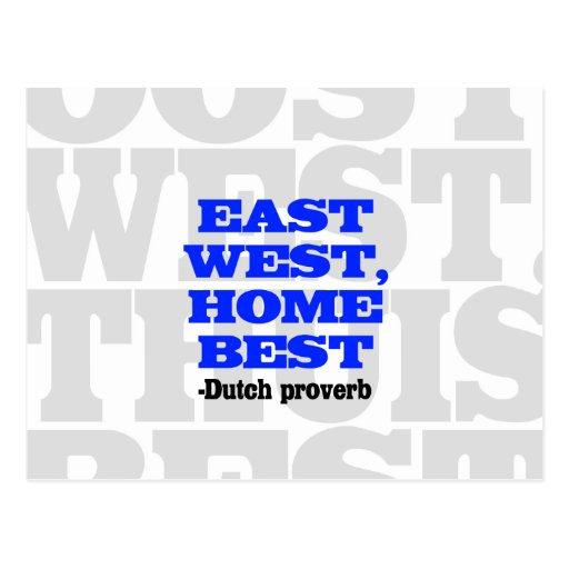 Mejor Este-Oeste, casero Tarjeta Postal