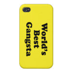 Mejor Gangsta del mundo iPhone 4 Fundas