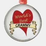 Mejor Grammy del mundo Adorno Navideño Redondo De Metal