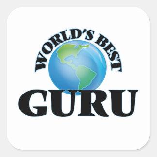 Mejor Guru del mundo Pegatina Cuadrada