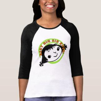 Mejor hermana grande retra nunca camisetas