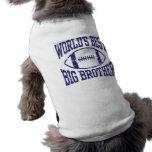 Mejor hermano mayor del mundo playera sin mangas para perro