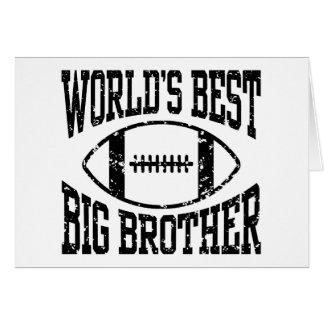 Mejor hermano mayor del mundo tarjeta de felicitación