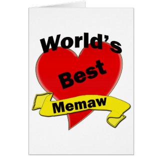 Mejor Memaw del mundo Tarjeta De Felicitación