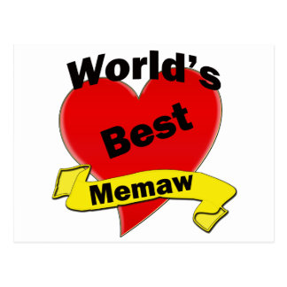 Mejor Memaw del mundo Tarjeta Postal