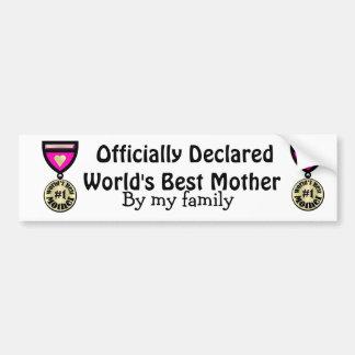 Mejor Moml del mundo Pegatina De Parachoque