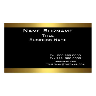 Mejor negro y tarjetas de visita del oro