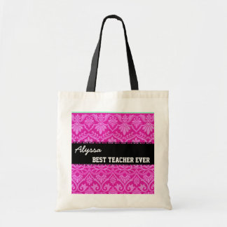 Mejor nombre siempre de encargo blanco negro rosad bolsas