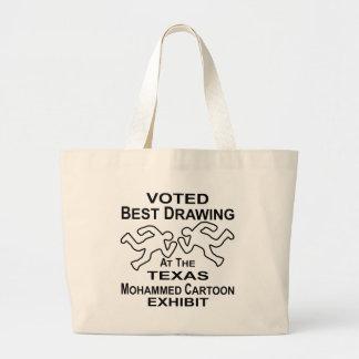 Mejor objeto expuesto de dibujo votado del dibujo bolsa tela grande