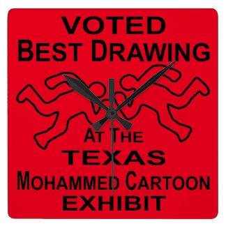 Mejor objeto expuesto de dibujo votado del dibujo reloj cuadrado