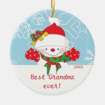 Mejor ornamento lindo del navidad del muñeco de ni ornatos