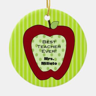 Mejor ornamento rojo del navidad del profesor de A Ornamento De Navidad