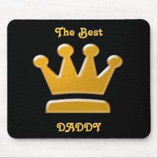 Mejor papá de oro Mousepad Alfombrillas De Ratones