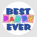 Mejor papá lindo NUNCA Etiqueta Redonda
