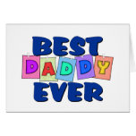 Mejor papá lindo NUNCA Tarjeta