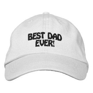 Mejor papá personalizado del gorra ajustable nunca gorra de beisbol