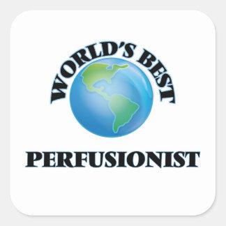 Mejor Perfusionist del mundo Pegatina Cuadrada