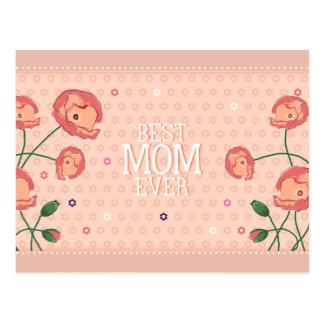 Mejor postal floral rosada de la mamá nunca