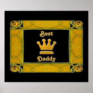 Mejor poster de oro del papá