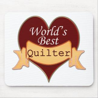 Mejor Quilter del mundo Alfombrillas De Ratón