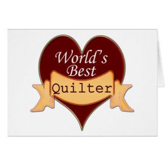 Mejor Quilter del mundo Tarjeta De Felicitación