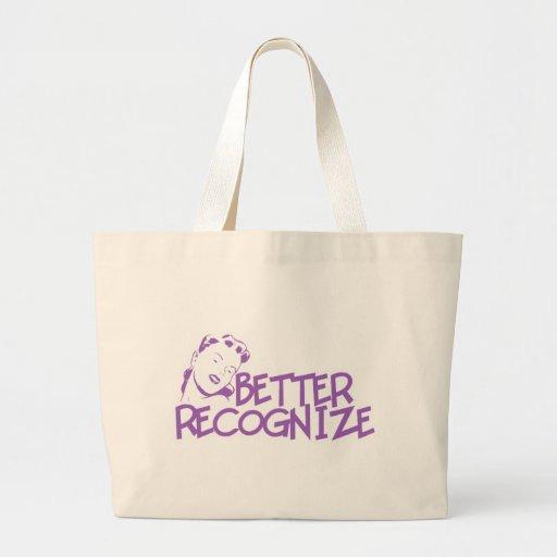 Mejor reconozca a la señora retra - púrpura bolsas