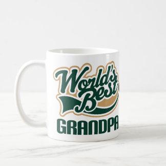 Mejor regalo personalizado del abuelo de los mundo tazas