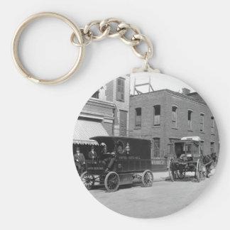 Mejora de la tecnología del servicio postal 1900s llavero personalizado