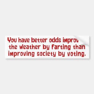 Mejorando a la sociedad votando a la pegatina para pegatina de parachoque