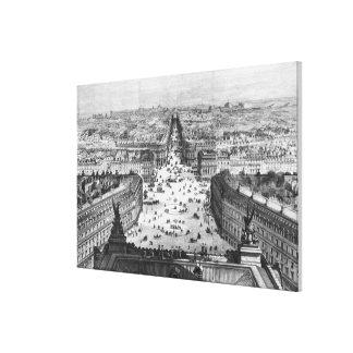 Mejoras a París Impresión En Lona Estirada