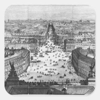 Mejoras a París Pegatina Cuadrada